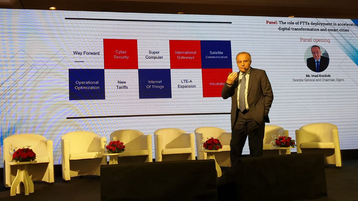 Telecom Review Summit at Phoenicia Hotel in Beirut, Lebanon